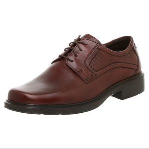 ECCO Rust Berlin Plain Toe Leather Oxfords Sz 40